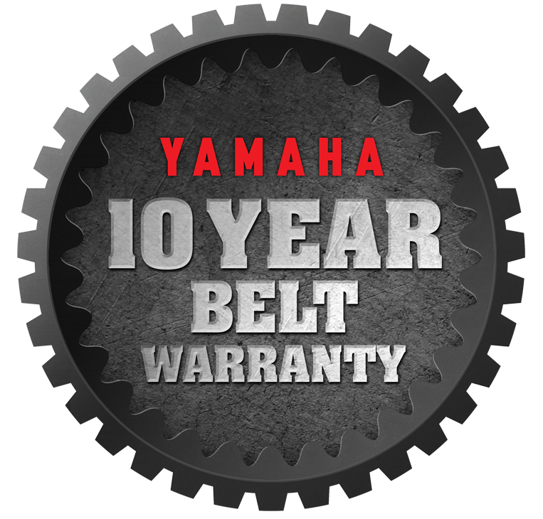 Yamaha 10 Year Belt Warranty logo