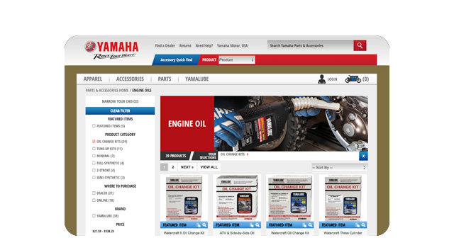 Owner's Center - Yamalube Oil Change Kits