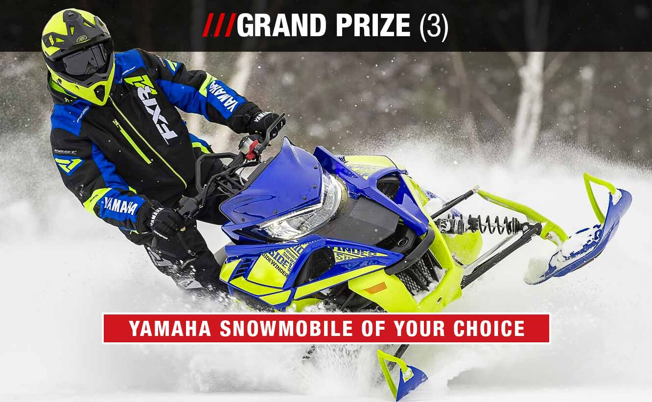 Grand Prize Snowmobile of Your Choice